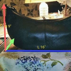 Vintage Fossil 1954 Black Leather Cross Body Bag